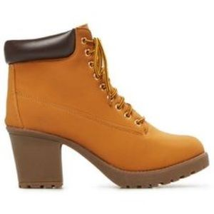 Rue 21 Lace-Up Chunky Heel Hike Boots
